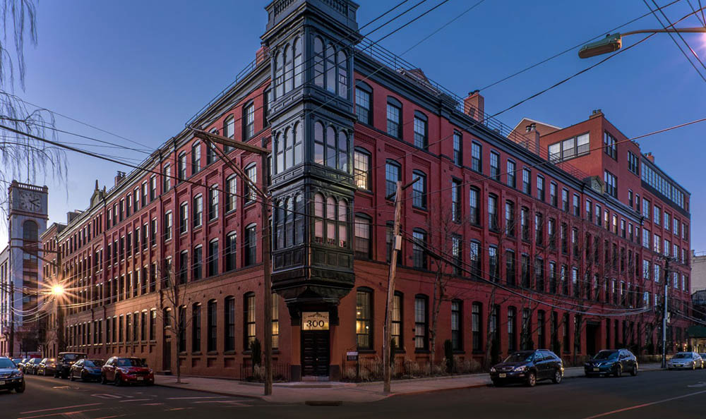 Exterior view of at Grand Adams in Hoboken, NJ