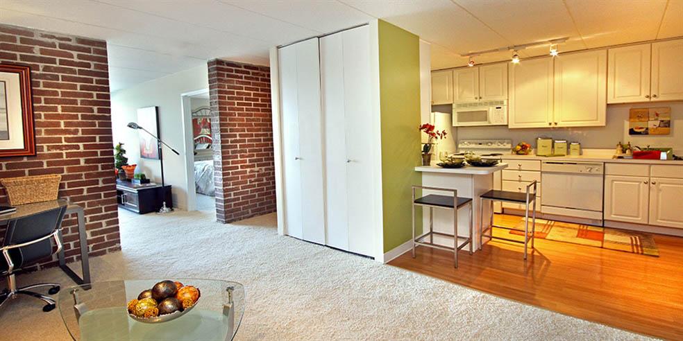 Kitchen at Jefferson Hills Apartments