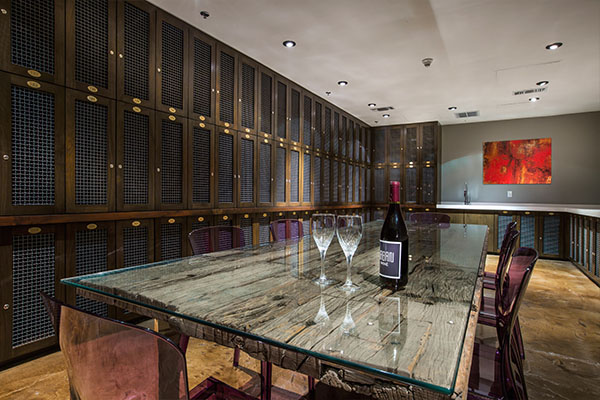 ... Wine room at The Roosevelt ...