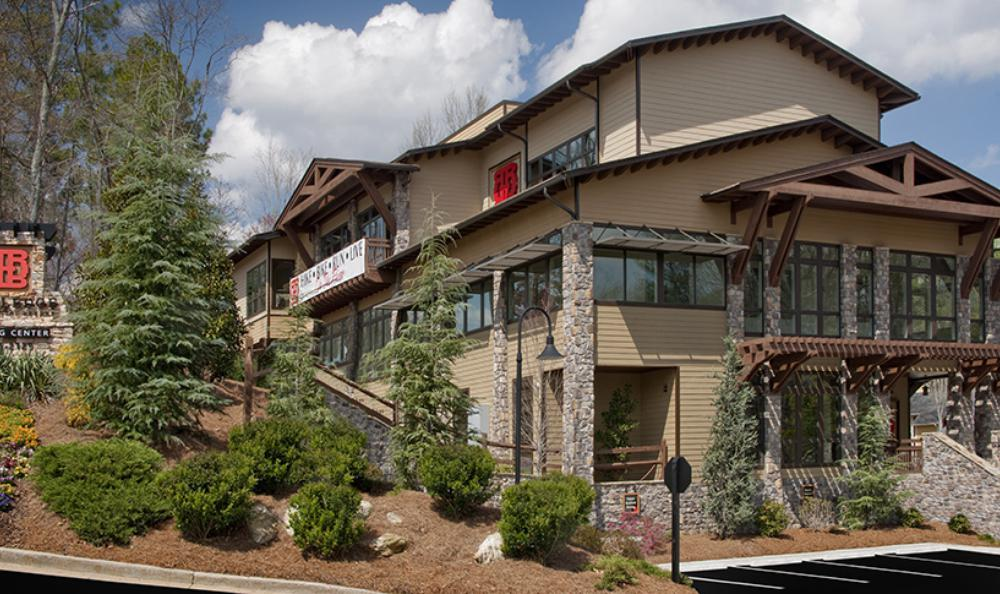 clubhouse garden view at Rockledge Apartments in Marietta, GA