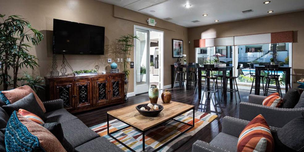 University City San Diego CA Apartments For Rent Avana La Jolla - The living room la jolla