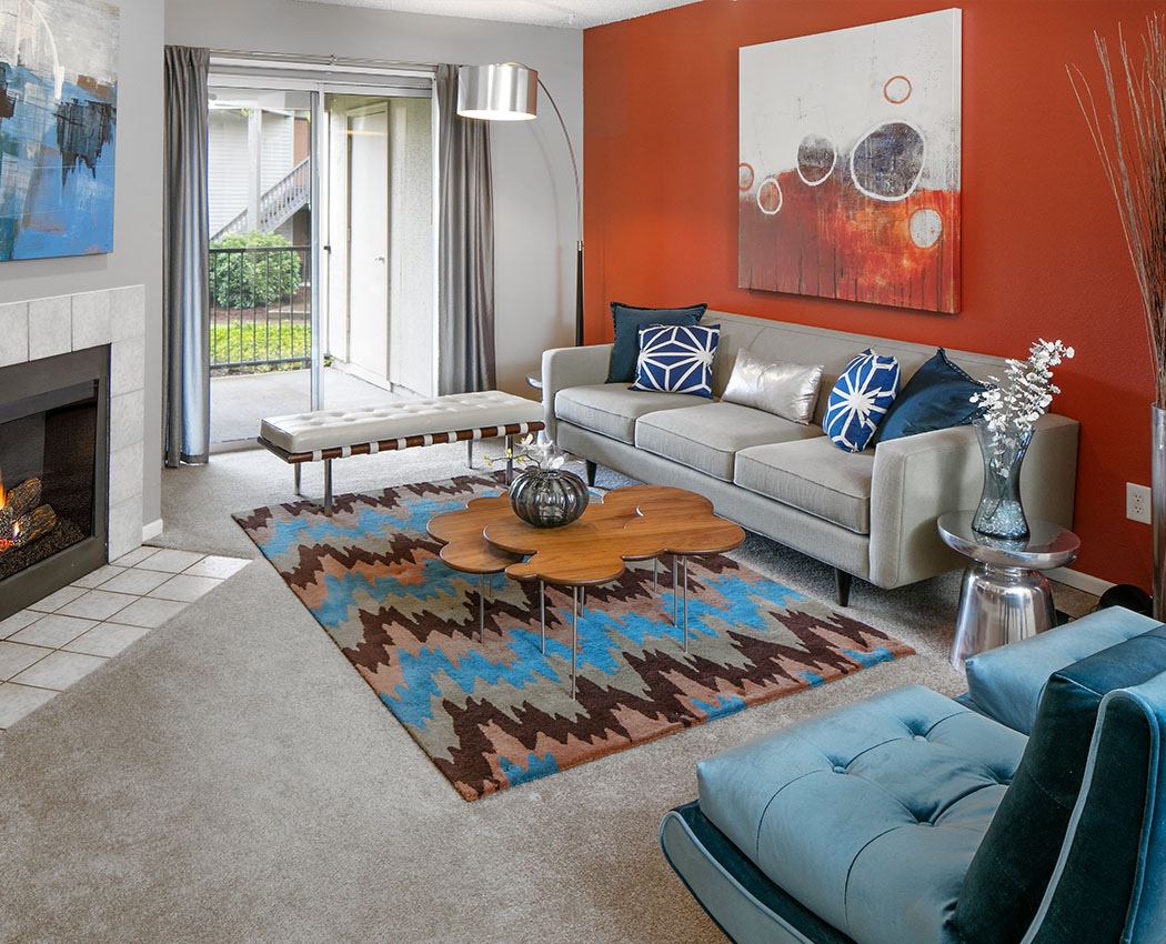 Living Room With The Terraces Apartments ...