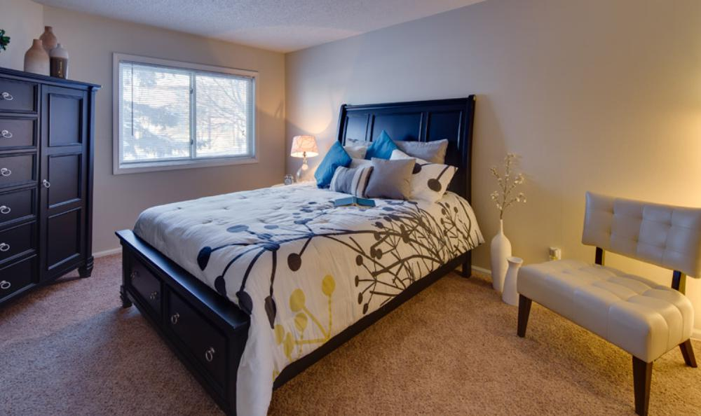 spacious bedroom at avana on seven apartments in st louis park mn