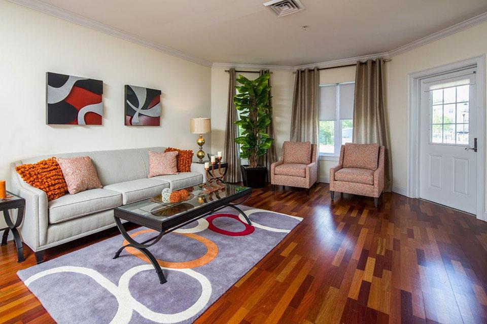 living room at Avana Abington Apartments in Abington