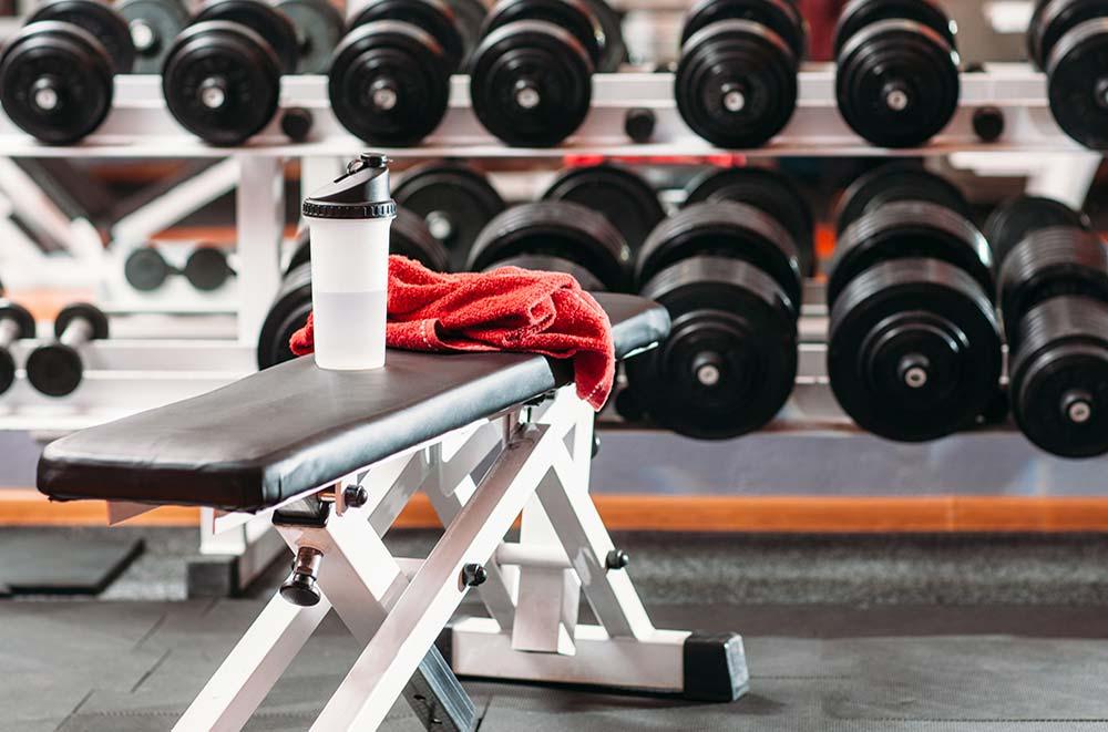 Weights room at Avana Skyway Apartments in San Jose, CA