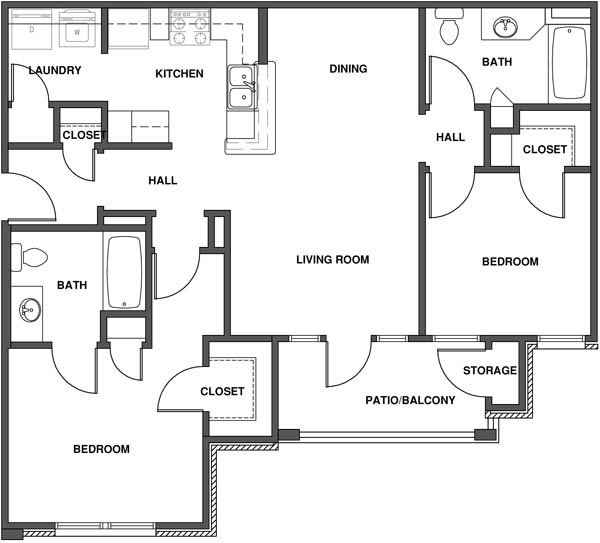 Choose A Floor Plan. 2 Bedroom 2 Bathroom. View