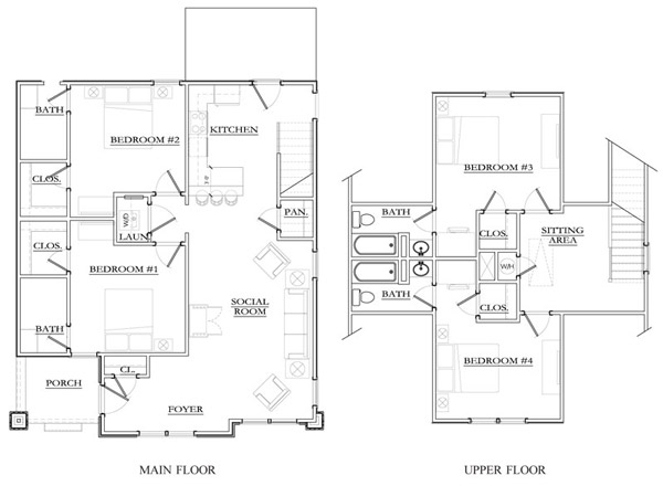 2, 3, 4 & 5 bedroom off campus student housing in mississippi