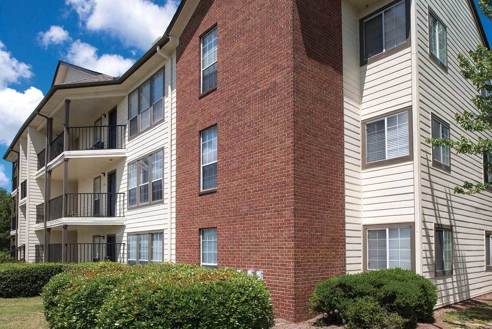 Private Patios at Eagles South Apartments in Auburn