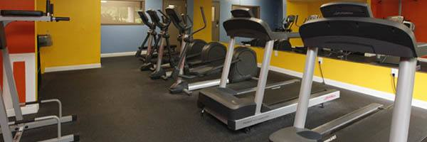 University Apartments has a community fitness center