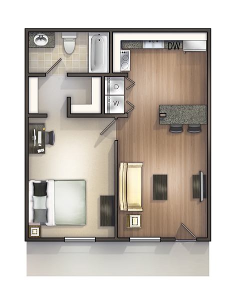 1 Bedroom. 1   2 Bedroom Off Campus Student Housing in Tallahassee  FL