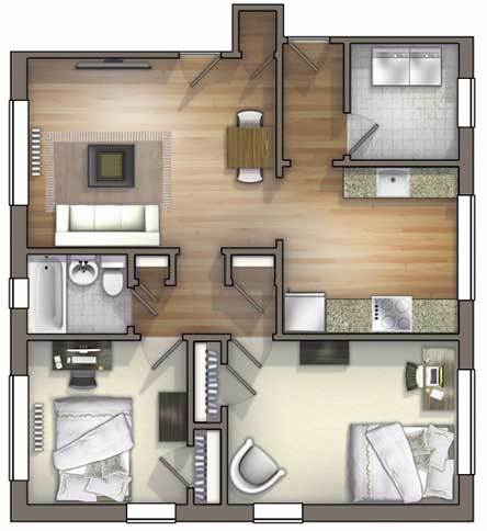 1 2 Bedroom Student Housing in Durham NC University Apartments