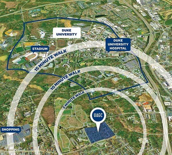 University Apartments proximity to campus