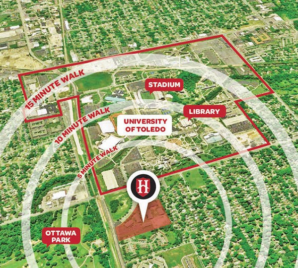 University Hills proximity to campus