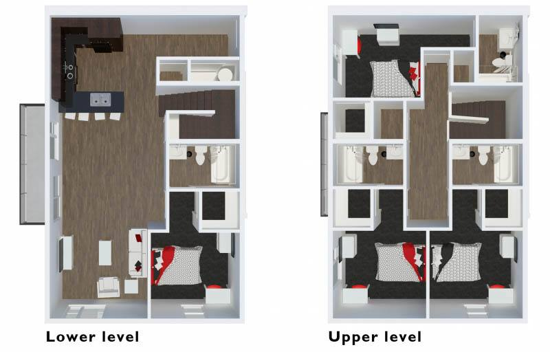 1 2 4 Bedroom Off Campus Student Housing In Fayetteville Ar