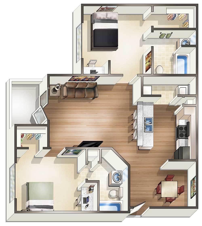 1 2 4 bedroom off campus student housing in hattiesburg ms 2 bedroom