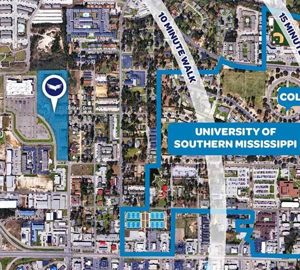 Eagle Flatts proximity to campus