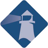 Blue lighthouse icon