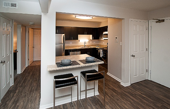 Updated kitchens at Mount Prospect Greens Apartments in Mount Prospect, IL