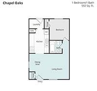 Printable floor plan 1 at Chapel Oaks Apartments