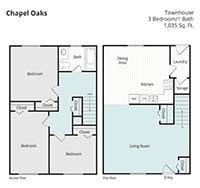 Printable floor plan 4 at Chapel Oaks Apartments