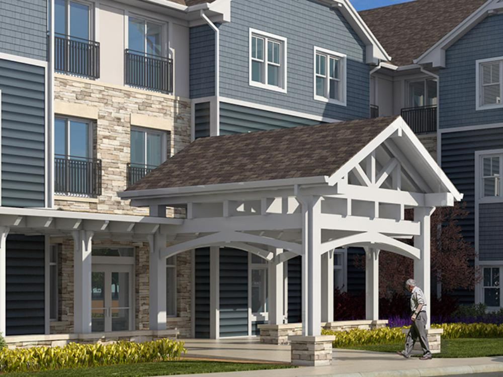 Exterior view of our installations at Azpira Place in Lake Zurich, IL