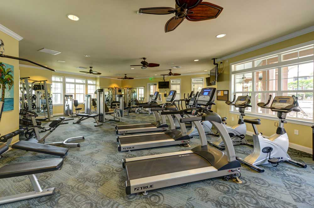 State of the art fitness center at Cabana Club and Galleria Club