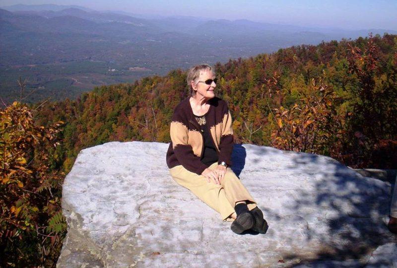 Bobbie on top of mountain