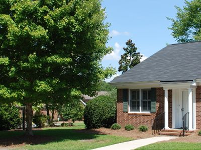 The Columbia Presbyterian Community Has Comfy Patio Homes For Residents.