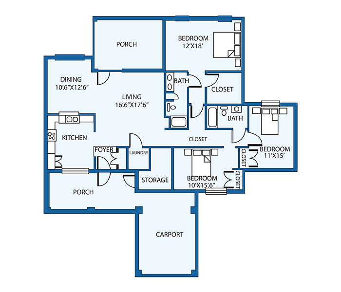 Senior Living Floor Plans   The Foothills Presbyterian Community