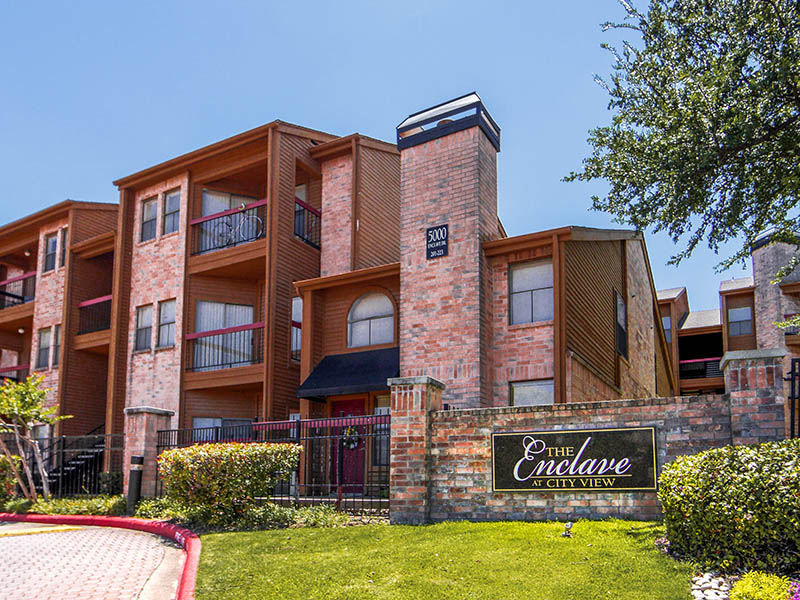Exterior of Enclave at City View Location