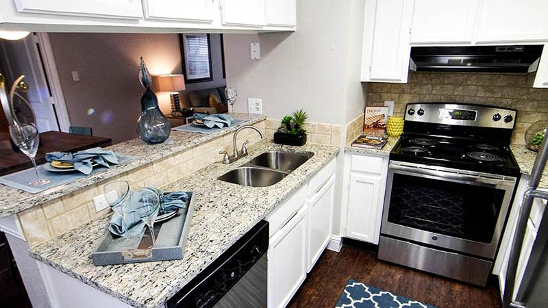 Oak Creek Apartments Model Kitchen