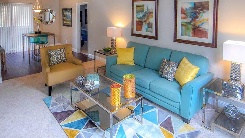 Oak Creek Apartments Model Living Room