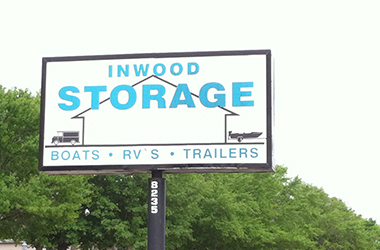 Clean and bright indoor storage available at Inwood Storage