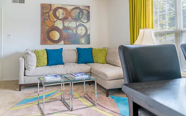Spacious Living Room at The Point at Loudoun