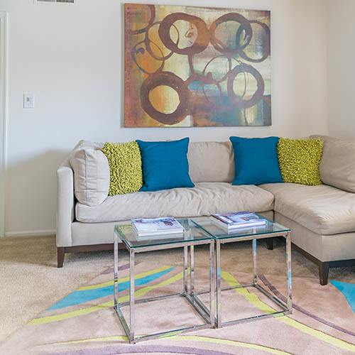 Living room at The Point at Loudoun in Leesburg