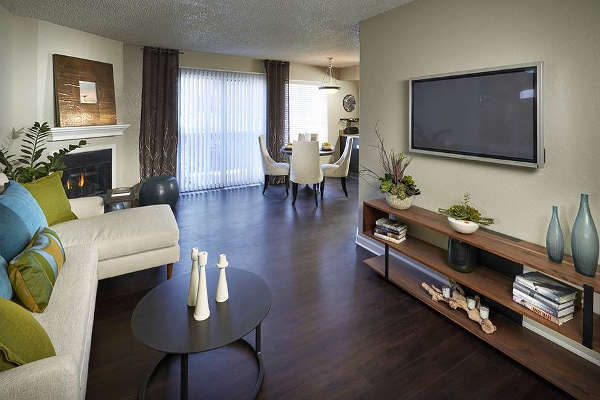 Living Room at Arapahoe Club Apartments