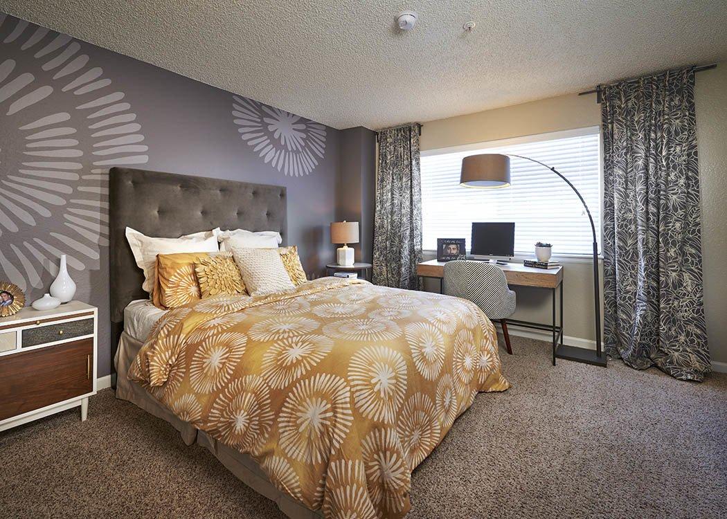 Bedroom at Arapahoe Club Apartments