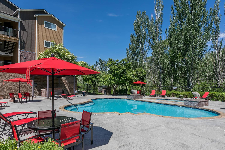 Pool at The Crossings at Bear Creek Apartments