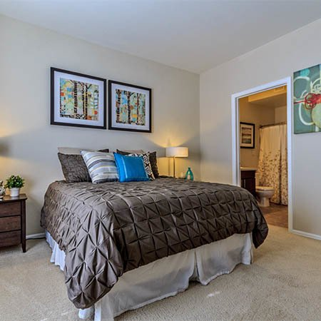 Bedroom at The Crossings at Bear Creek Apartments in Lakewood