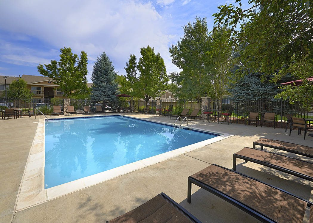 Pool at Crossroads at City Center Apartments