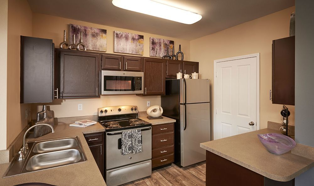 Kitchen at Legend Oaks Apartments