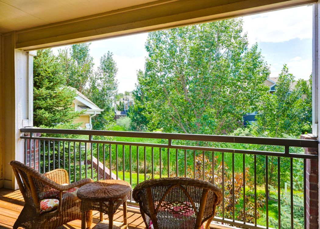Patio view at Legend Oaks Apartments