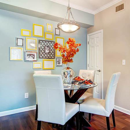 Dining room at Skyecrest Apartments in Lakewood