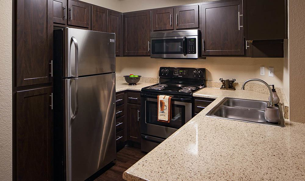 Kitchen At Tuscany Village Apartments