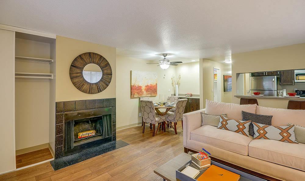 Living room at Arbor Creek Apartments
