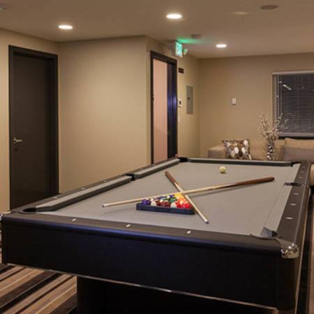 pool table at Karbon Apartments in Newcastle