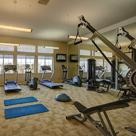 fitness room pool at Villas at Homestead Apartments in Englewood
