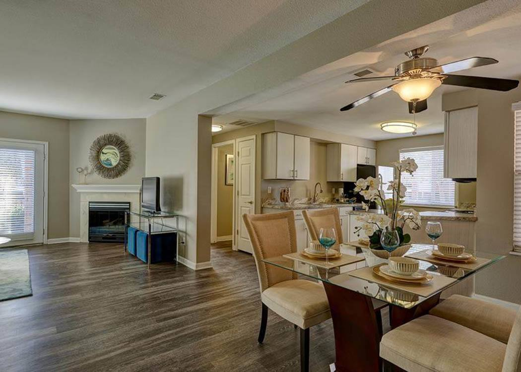 Villas at Homestead Apartments floor plans with plank flooring