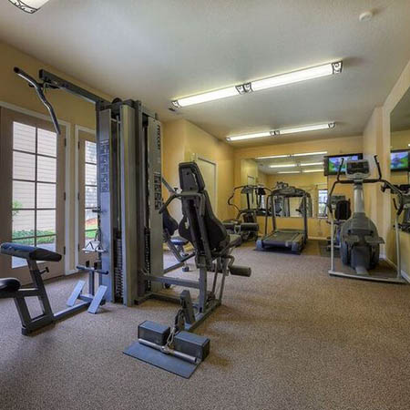 Fitness center pool at Carriage House Apartments in Vancouver
