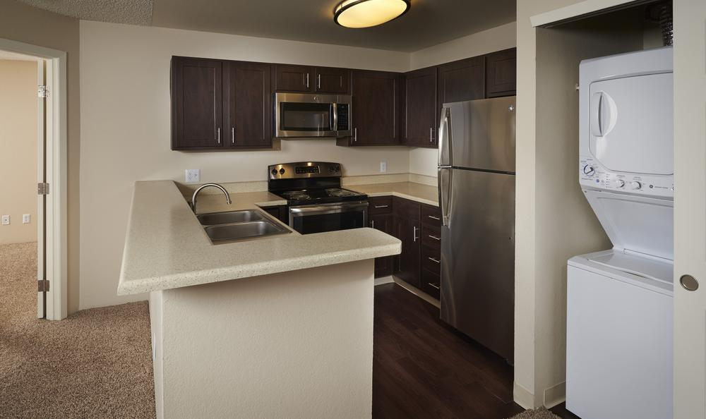 Kitchen fully equipped at Bluesky Landing Apartments